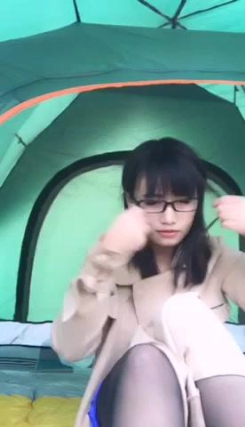 魅心户外帐篷,丝袜高跟,全程被路人看