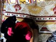 簡陋工棚攝像頭拍攝到的未婚小夥與女友激情造愛 互舔愛撫纏綿邊操邊自拍 露臉高清